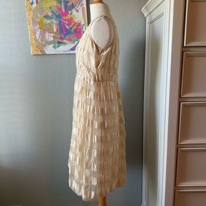 Tracy Reese Dresses - Tracy Reese Beige Striped V Neck Dress!